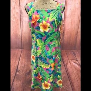 Clere size 8  tropical colorful dress